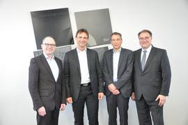 v.l.n.r. Frank Firsching, Frank Hirschmann, Harald Speck, Thomas Stelzer
