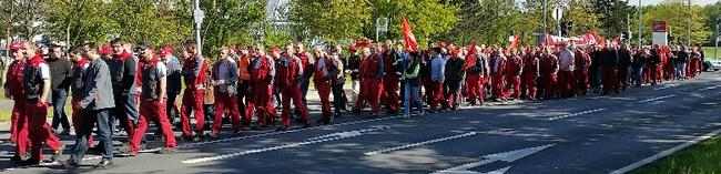 Demonstration bei Linde in Aschaffenburg