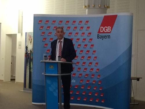 Matthias Jens, DGB Bezirksvorsitzender Bayern