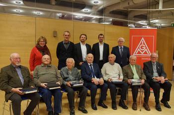 Elf Gewerkschafter sind seit 70 Jahren dabei. Am Samstag, 17.11.2018 ehrte die IG Metall Aschaffenburg in ihrer Jubilar Ehrung langjährige Mitglieder aus den Regionen Aschaffenburg, Miltenberg, Alzenau.