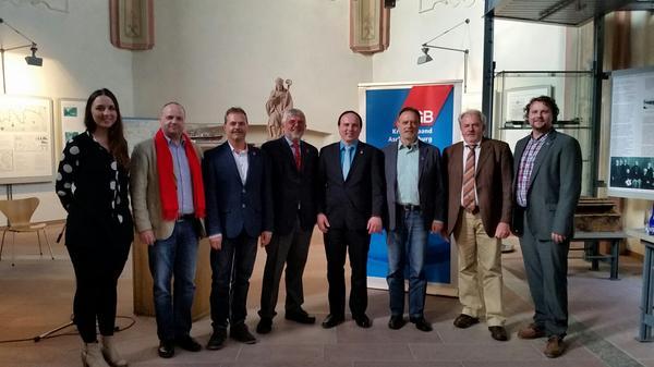 DGB Kreisverbände Odenwaldkreis und Aschaffenburg-Miltenberg gemeinsam auf dem Arbeitnehmerempfang.