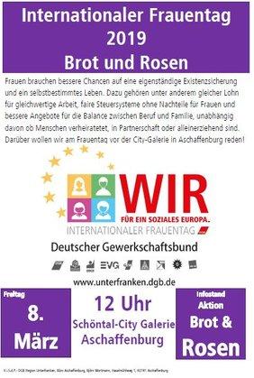 Aktion und Kinofilm am Frauentag in Aschaffenburg