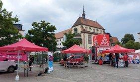 15 Beratungsstände beim DGB Aktionstag Beratung Aschaffenburg
