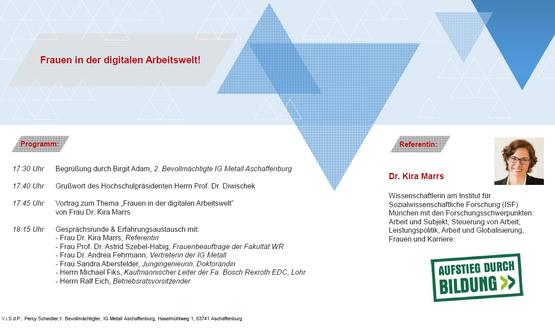 """Vortrag und Diskussion """"Frauen in der digitalisierten Arbeitswelt"""""""