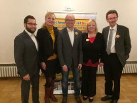 von links: Nicolas Lommatzsch, Marietta Eder, Frank Firsching, Jutta Greber und Maixmilain Grubauer