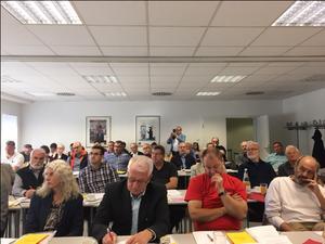 37 der 38 eingeladenen Delegierten sind der Einladung zur des DGB Kreisverbands Aschaffenburg-Miltenberg gefolgt.
