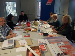 Klausur zum Jahresauftakt beim DGB Kreisverband Würzburg.