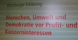 Seit Wochen schmieden die Initiatoren vom DGB Kreis Würzburg und dem Florakreis/Sozialen Bündnis ein breites Bündnis, um die Öffentlichkeit in Sachen Freihandelsabkommen TTIP zu sensibilisieren und Stadt und Landkreis dazu zu bringen, sich mit dem Thema zu befassen.