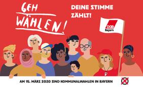 Geh wählen am 15. März
