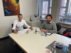 Gespräch zwischen Landrat Alexander Legler und DGB Vorsitzenden Björn Wortmann