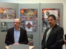 v.l. Frank Firsching, DGB und Aribert Elpelt, Schaeffler