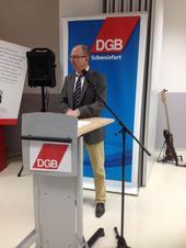 Frank Firsching, Vorsitzender des DGB Kreisverbandes