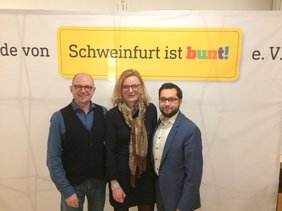 v.l. Frank Firsching, Marietta Eder, Nicolas Lommatzsch