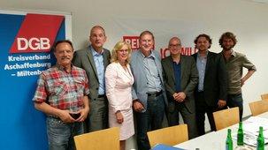 DGB diskutiert mit drei Bundes- und einem Landtagsabgeordneten über das Thema Rente