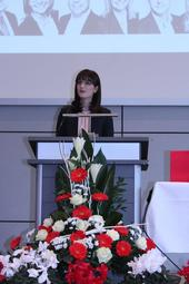 Gewerkschaftssekretärin Andrea Sicker