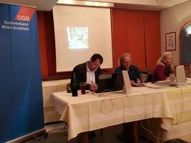 Norbert Zirnsak, Peter Schüllermann und Christine Fischer informierten am Dienstag in Bad Neustadt in Rentenfragen.