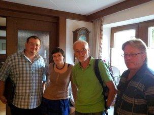 DGB-MSP 07/2014v.l.n.r. Marco Netrval, Lena Werner, Wolfgang Tröster, Dieter Ehrenfels (nicht auf dem Foto Herbert Bieber)