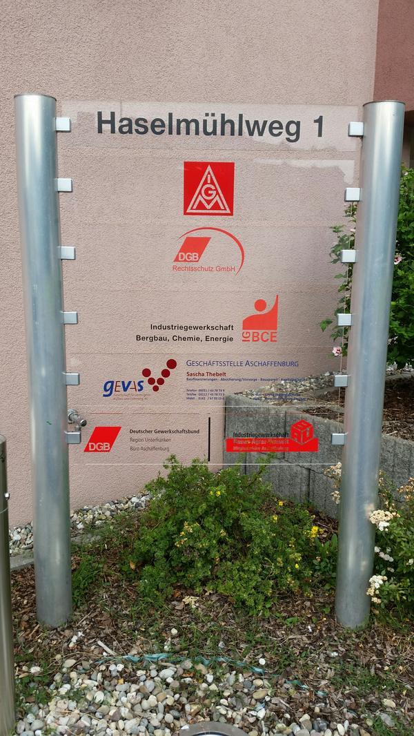Gewerkschaften im Haselmühlweg 1 in Aschaffenburg