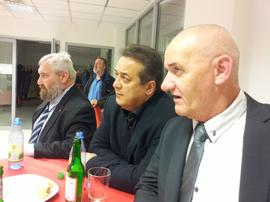 Hans Beer, (IG BAU), Ibo Ocak + Ottmar Montag (NGG)