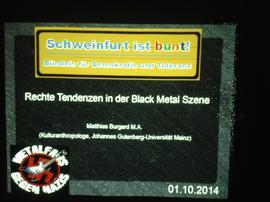 Band `Taake`: Nazi-Rock oder Freizeitspaß? Eine Info-Veranstaltung im Schweinfurter Stattbahnhof klärte diese Frage.