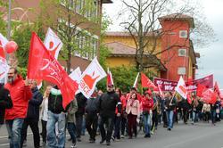 Aschaffenburg: Demo. Kundgebung. Maifest: Wir sind viele. Wir sind eins.