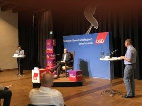 Heißer Stuhl des DGB in Karlstadt