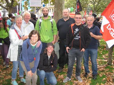DGB Kreisverband Main-Spessart ist mit dem Zug nach Frankfurt angereist