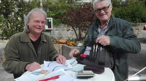 v.l. Peter Schüllermann und Gerhard Stein, DRV Rentenberater