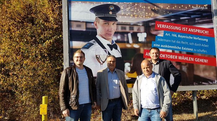 v.l. Viktor Grauber (DGB), Ibo Ocack (NGG), Frank Jauch (NGG), Norbert Zirnsak (IGM)