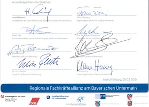 Unterschriften Allianterklärung
