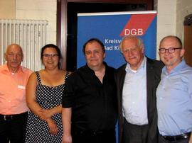 v.l. Xaver Kerber, Anna Schlechter, Gerhard Klamet, Fritz Schösser und Frank Firsching