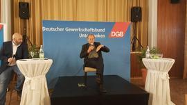 Paul Knoblach (Bündnis 90/ Die Grünen) auf dem heißen Stuhl in Schweinfurt