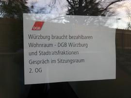 Zum Meinungsaustausch in Sachen bezahlbarer Wohnraum traf sich der DGB am Donnerstag mit den Fraktionen und Gruppen im Würzburger Stadtrat.