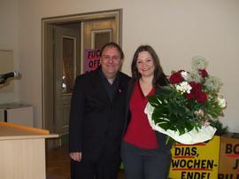Gerhard Klamet mit Mairednerin Doris Aschenbrenner