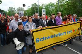 """Schweinfurt ist bunt: Kein Platz für Rassismus der Partei """"Die Republikaner"""""""
