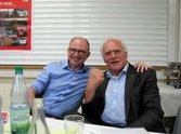 Frank Frisching, Regionsgeschäftsführer der DGB Region Unterfranken und Fritz Schöser, ehem. Vorsitzender des DGB Bezirkes Bayern
