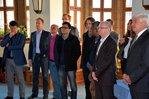 Gäste anl. Eintragung ins goldene Buch der Stadt Schweinfurt